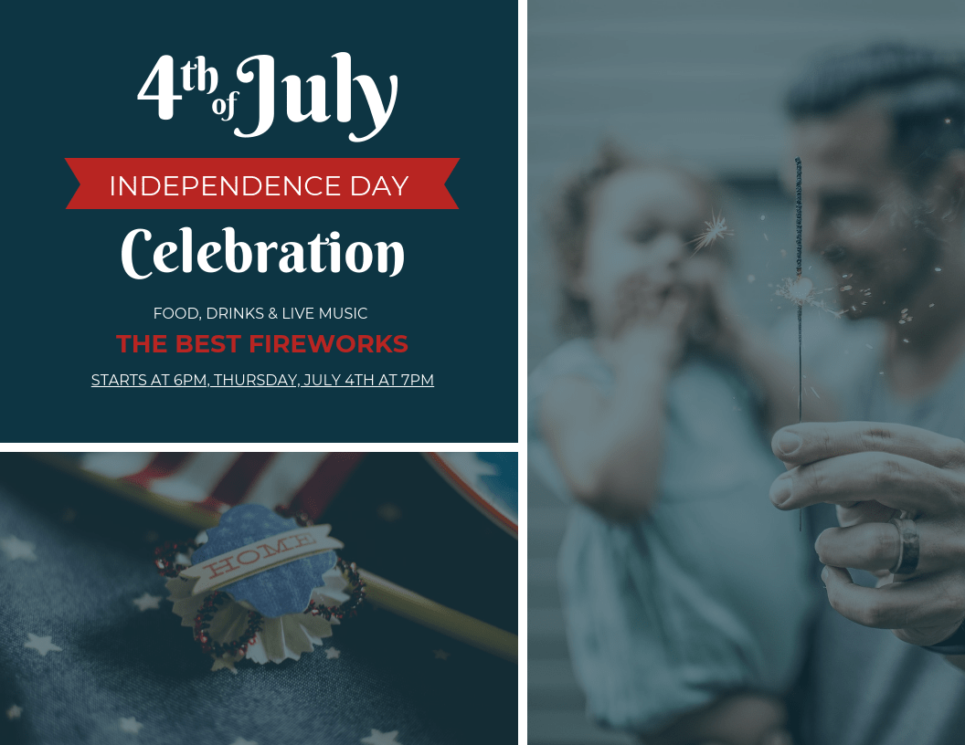 4th of July Fireworks Celebration Event Flyer Template