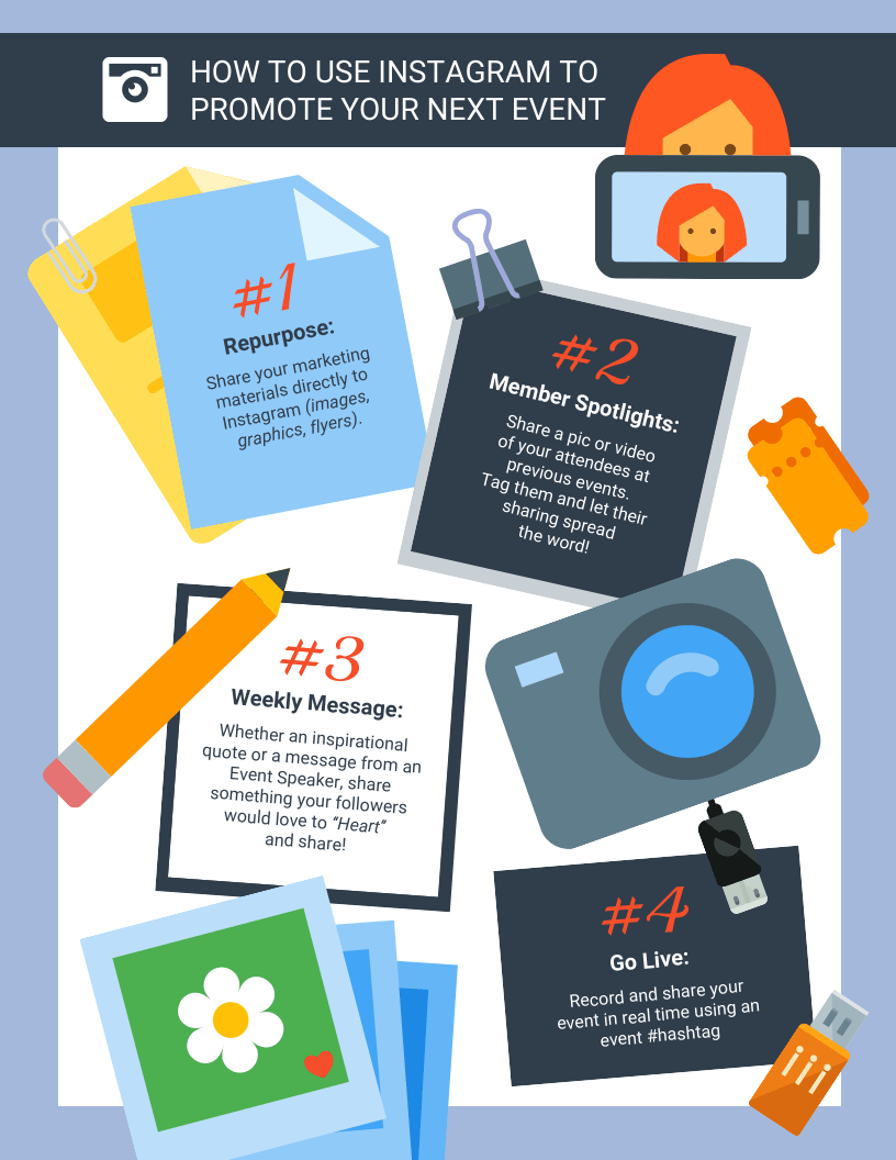 Instagram Marketing Infographic Template