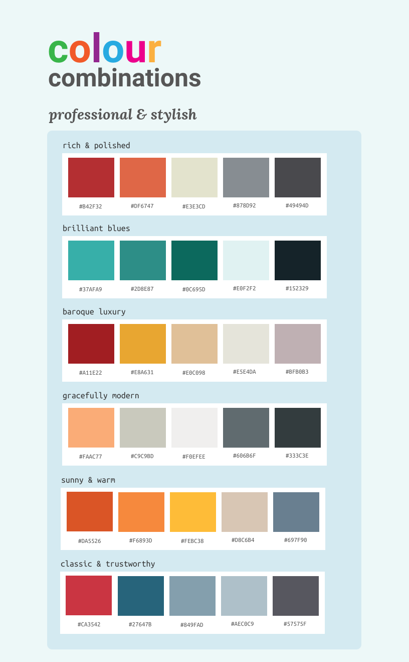 Color Palette Infographic Template