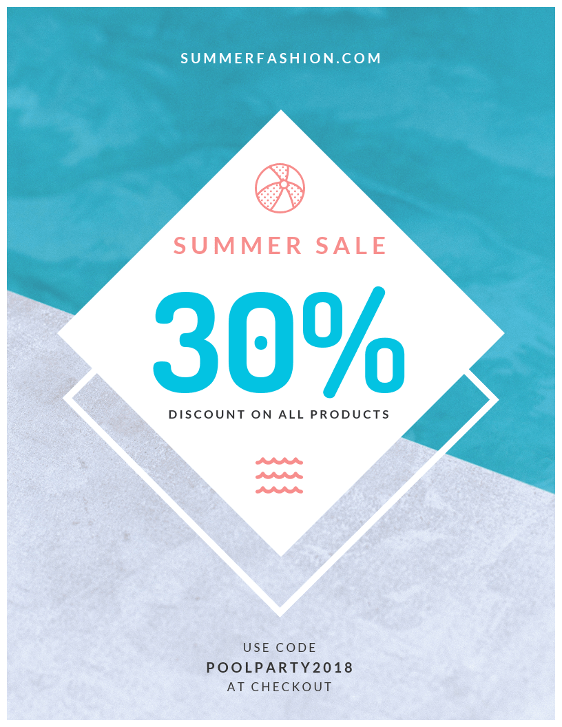 Summer Sale Coupon Template