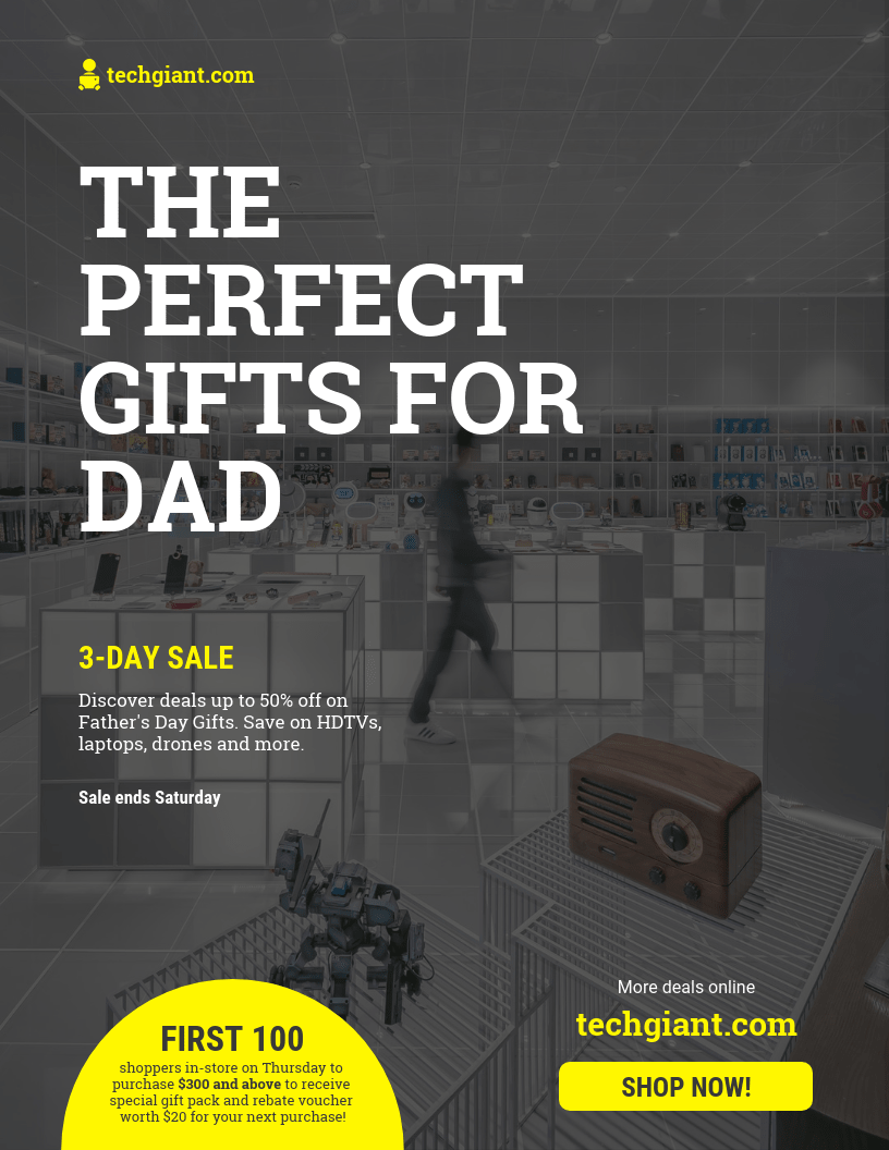Father's Day Gadget Sale Flyer Template