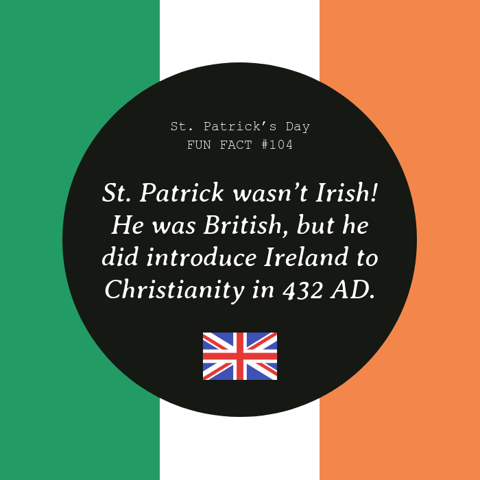 Origin Fact St. Patrick's Day Instagram Post Template
