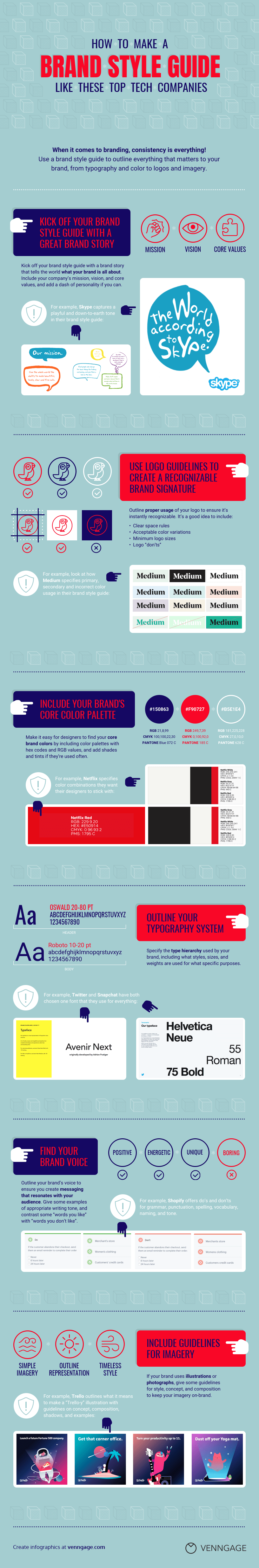 Brand Style Guide Infographic Template