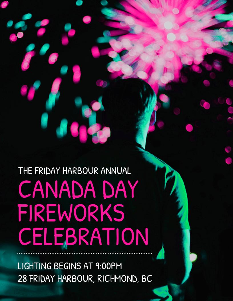 Vibrant Fireworks Celebration Event Flyer Template