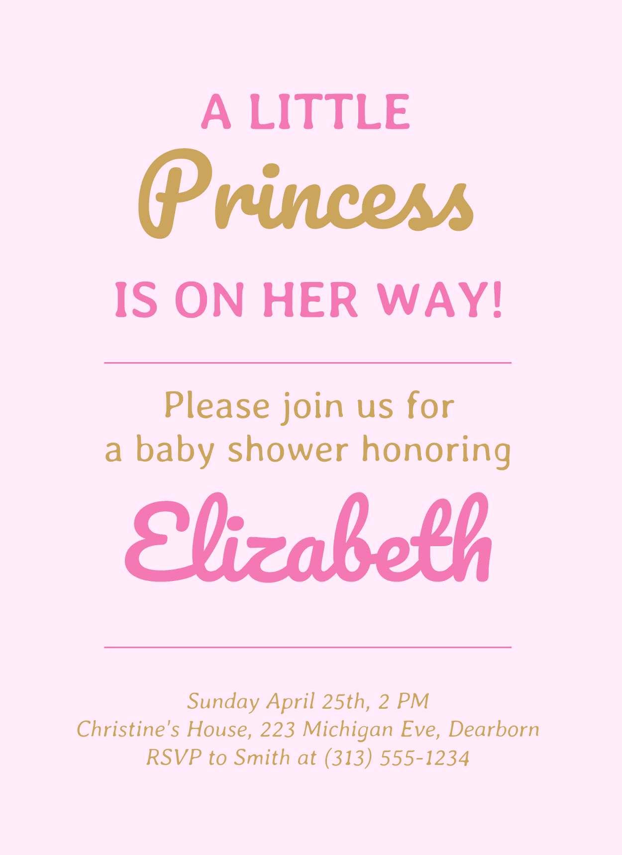 Pink baby shower invitation template venngage pink baby shower invitation filmwisefo