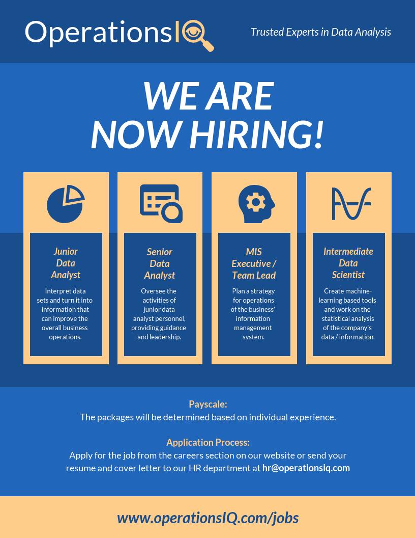 Data Company Job Hiring Flyer Template