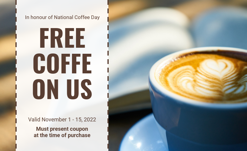 Free Coffee Gift Voucher Template
