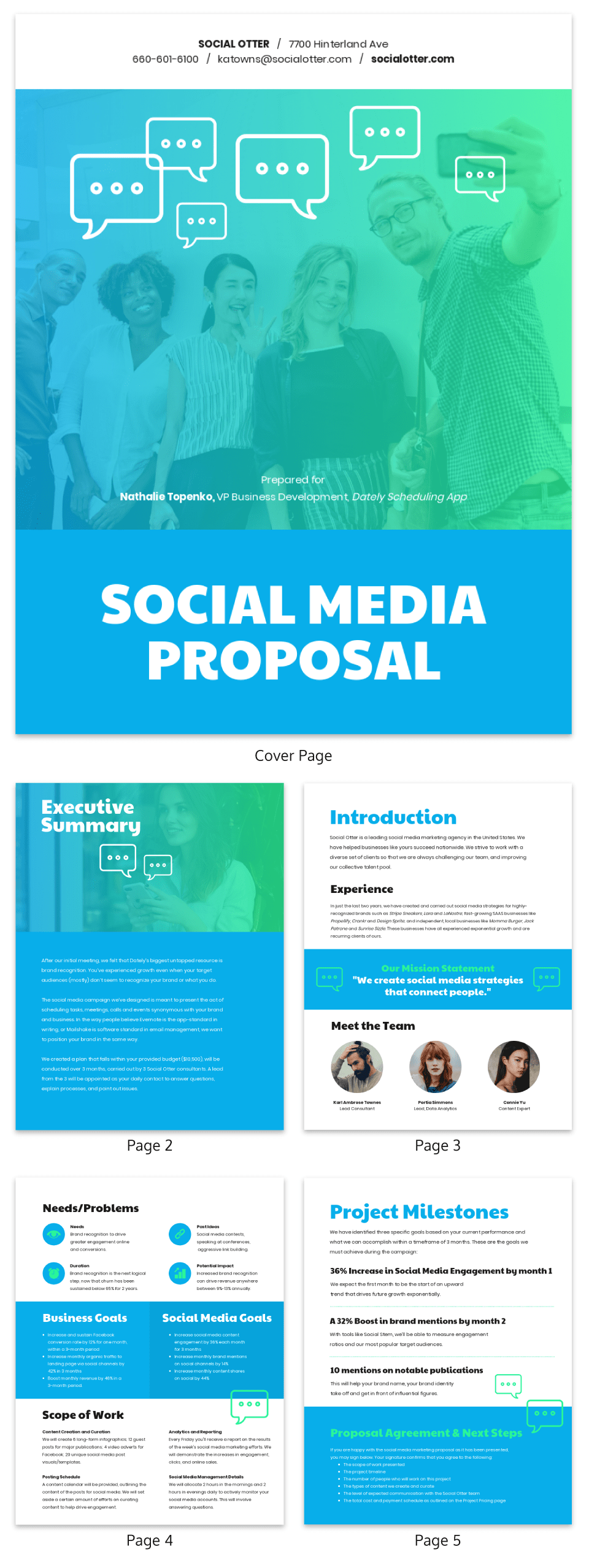 Gradient Social Media Marketing Proposal Template