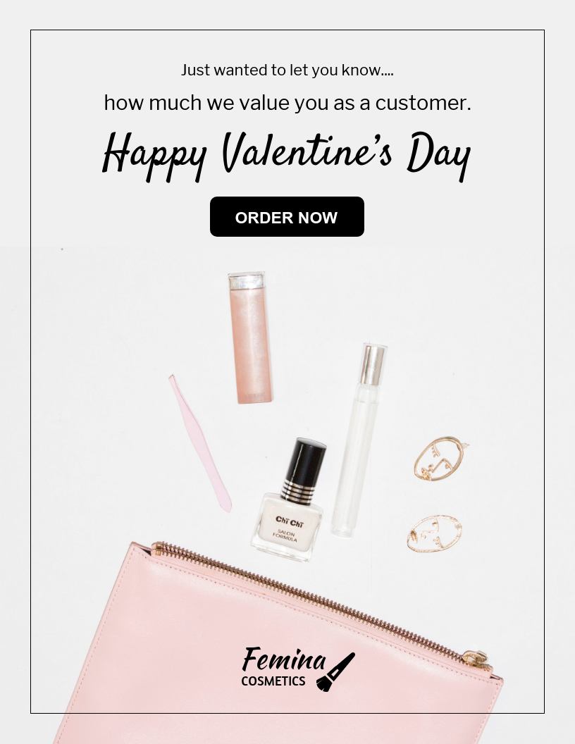 Valentine's Customer Appreciation Email Newsletter Template