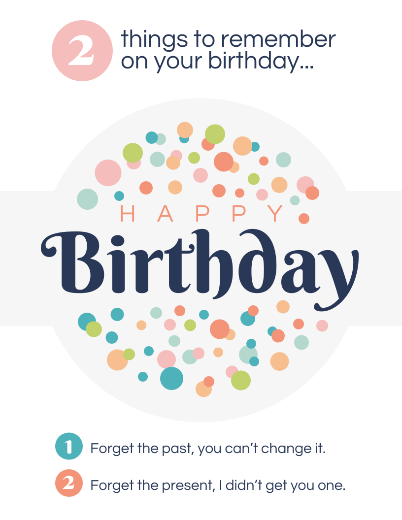 Magnificent 2 Things To Remember Birthday Card Template Personalised Birthday Cards Bromeletsinfo