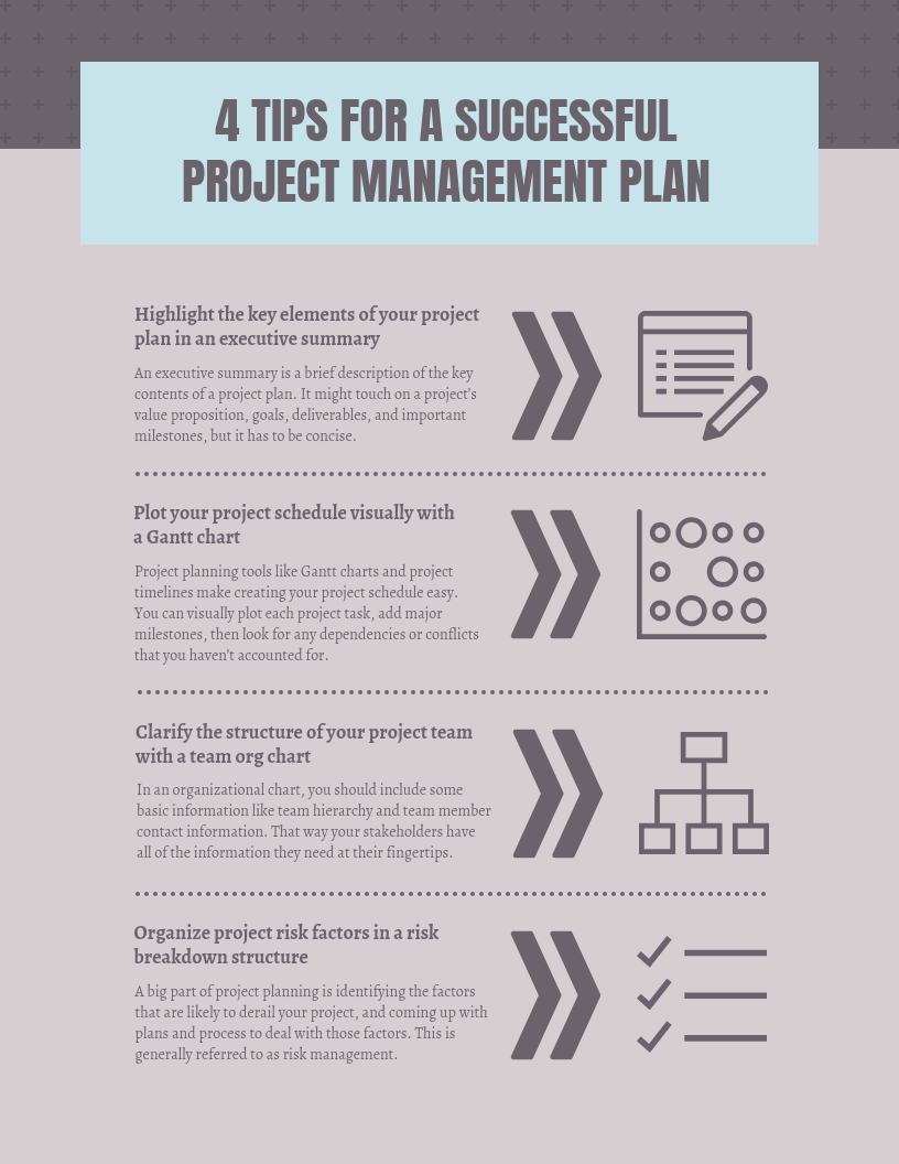 Vintage Project Management Plan Infographic Template