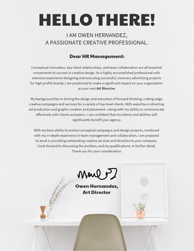 Corporate Cover Letter Template - Venngage