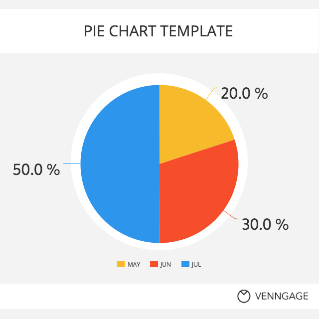 simple pie chart template template venngage
