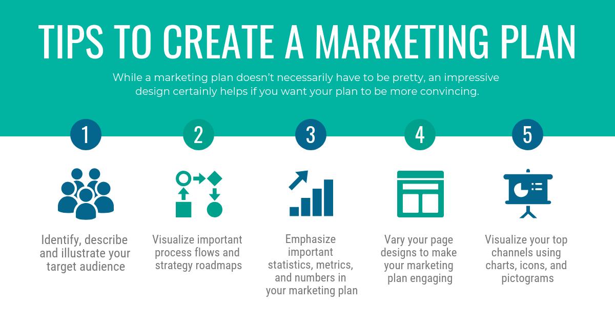 Marketing Plan Tips Facebook Post Template