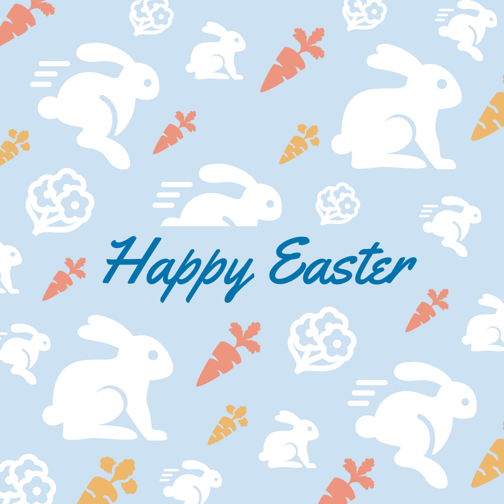 Rabbit Easter Card Template