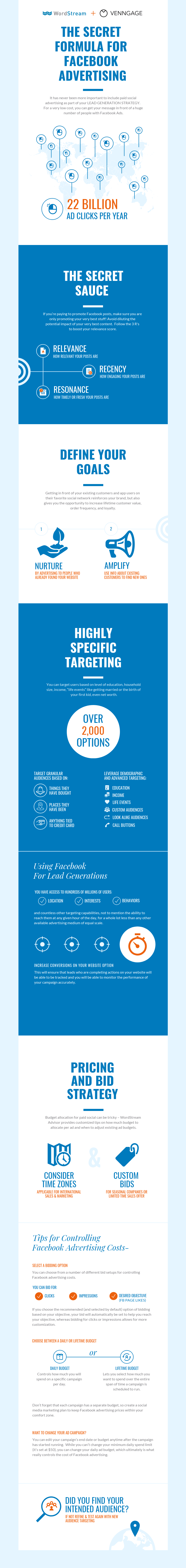 Facebook Advertising Infographic Template
