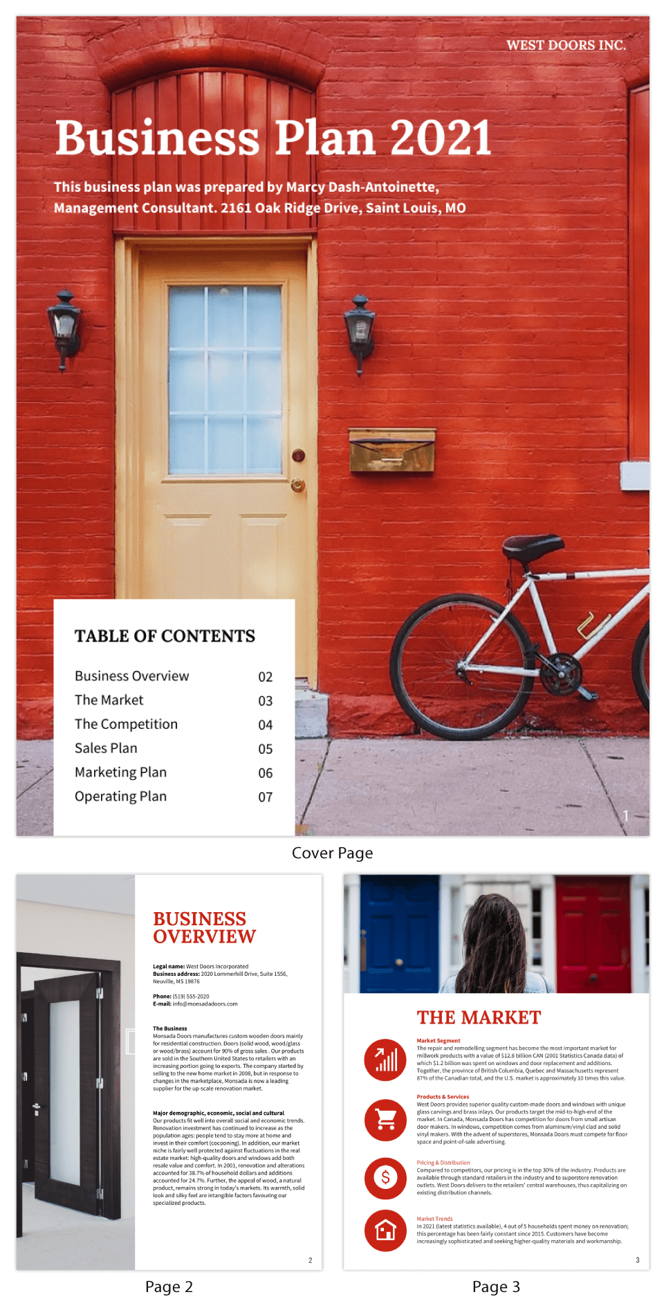Red Simple Business Plan Template