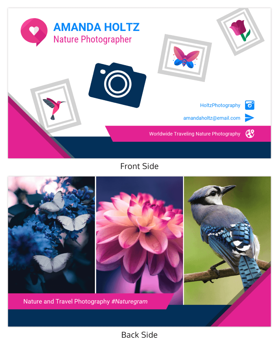 Nature Photographer Business Card Template