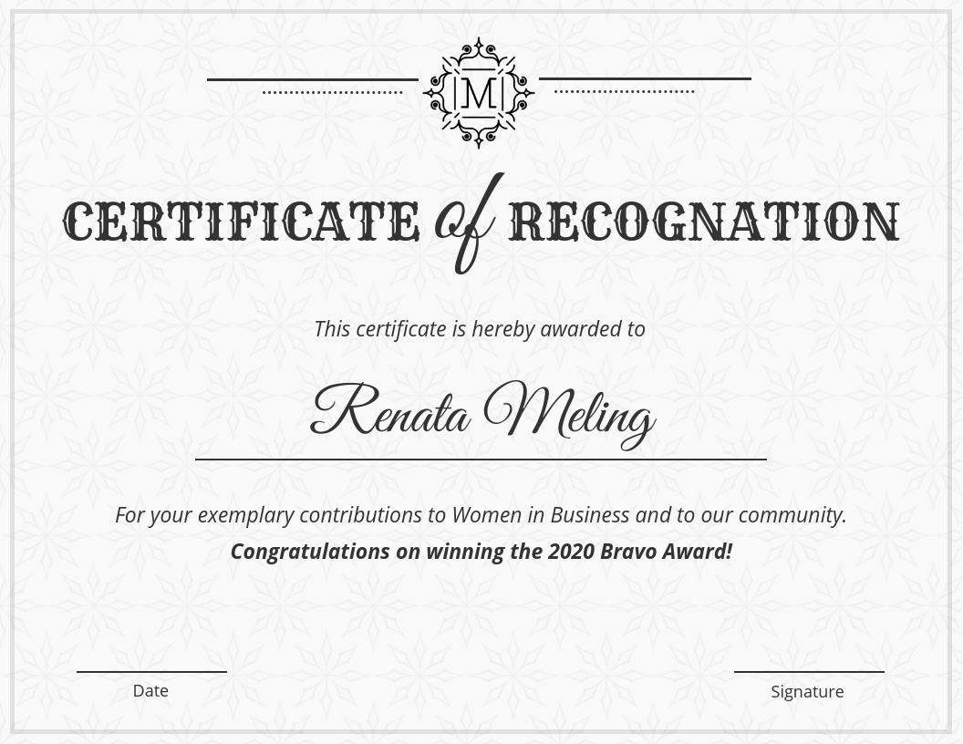 Vintage Certificate Of Recognition Template Template Venngage