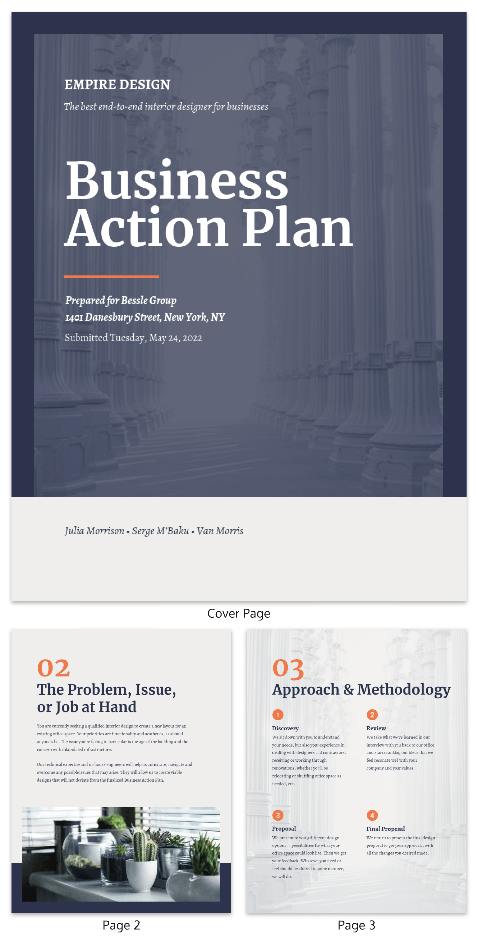 Professional Business Action Plan Template