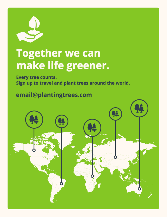 Saving Trees Infographic Template