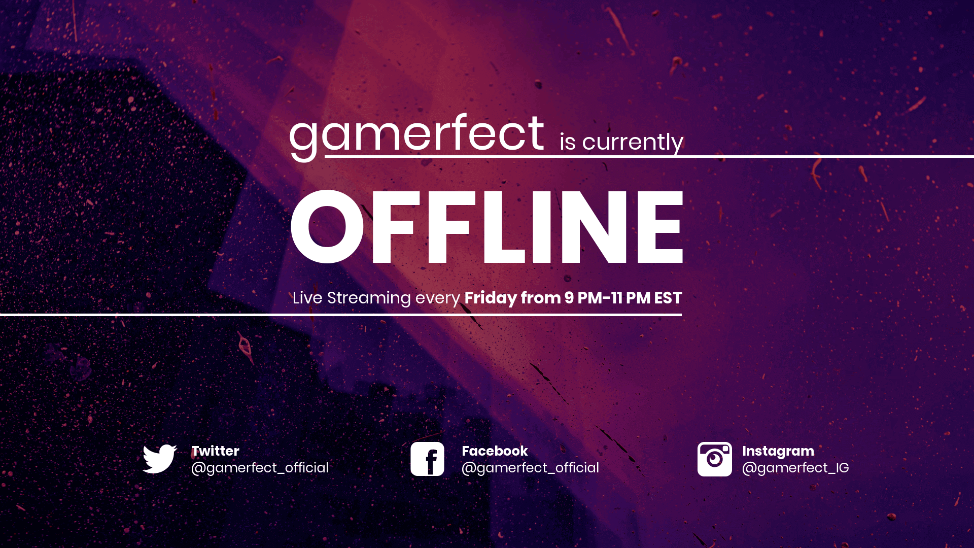 Bold Twitch Offline Youtube Banner Template