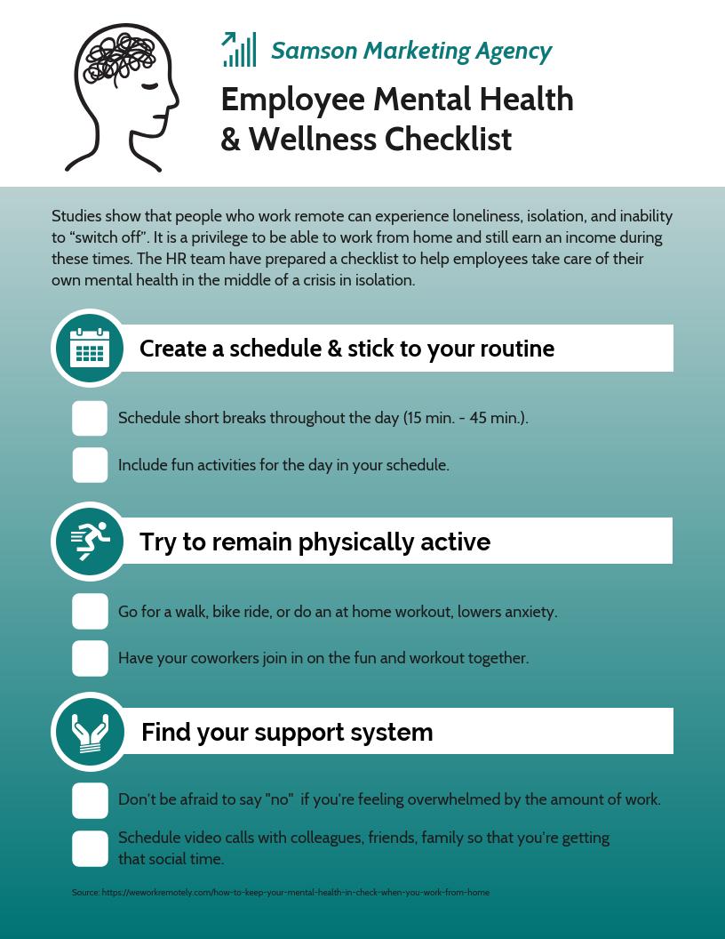 Employee Health and Wellness Checklist Template