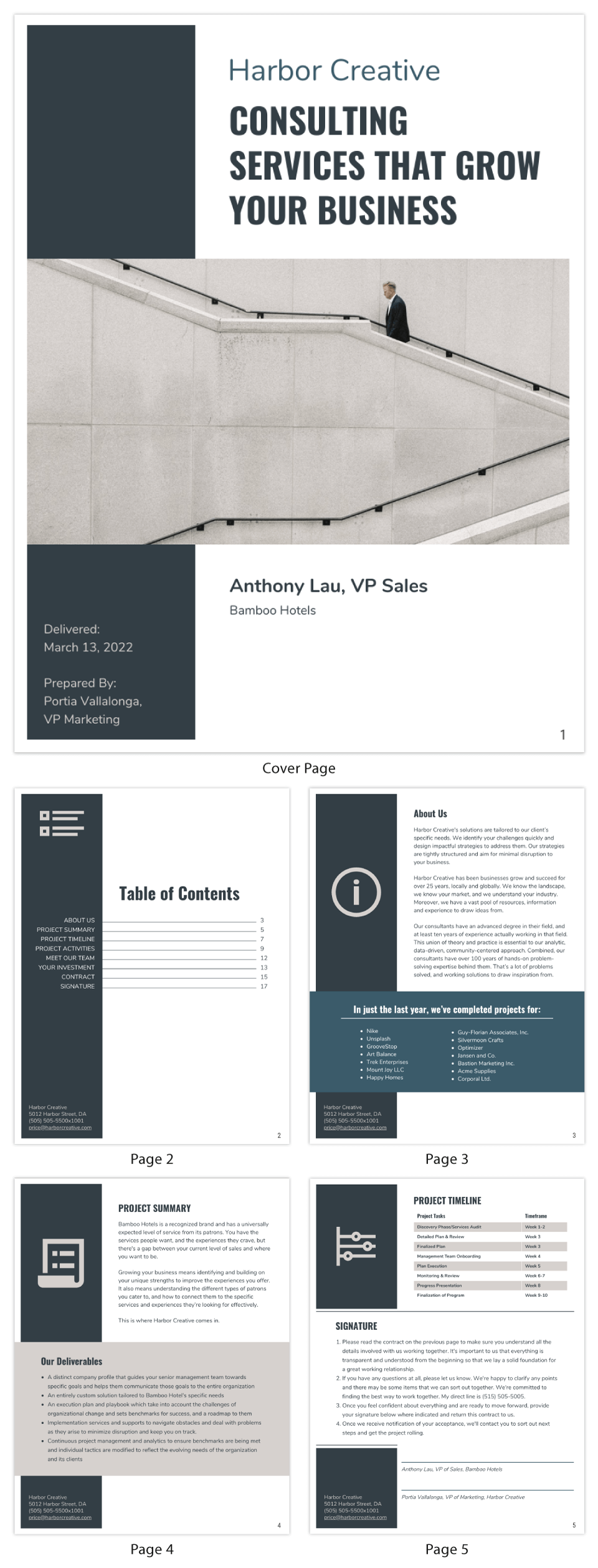 Gray Business Consulting Proposal Template