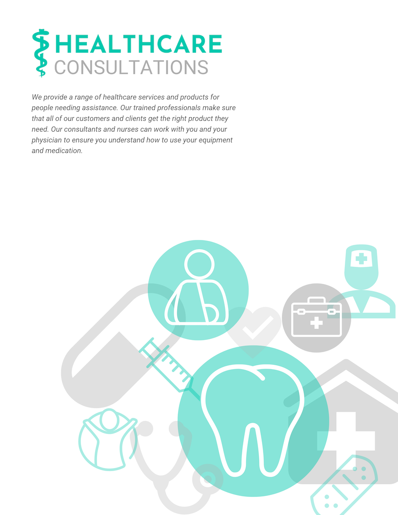 Simple White Health Center Poster Template