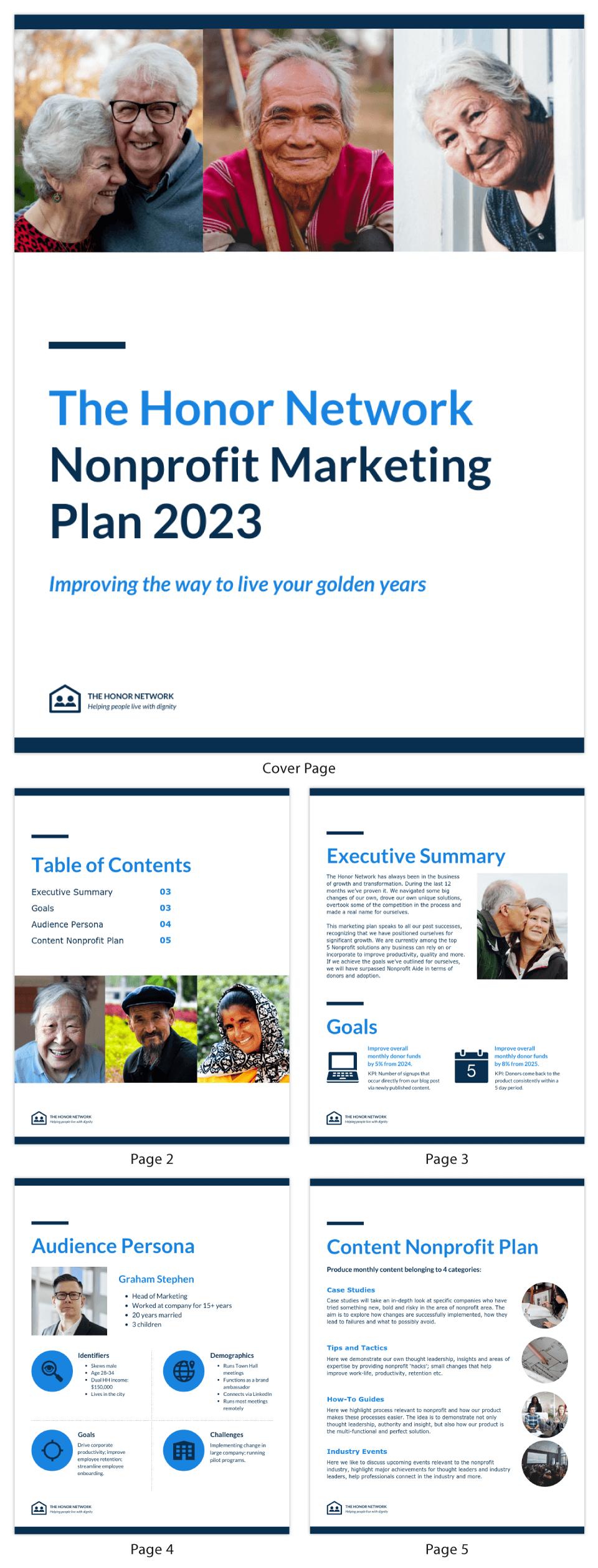 Simple Nonprofit Marketing Plan Template