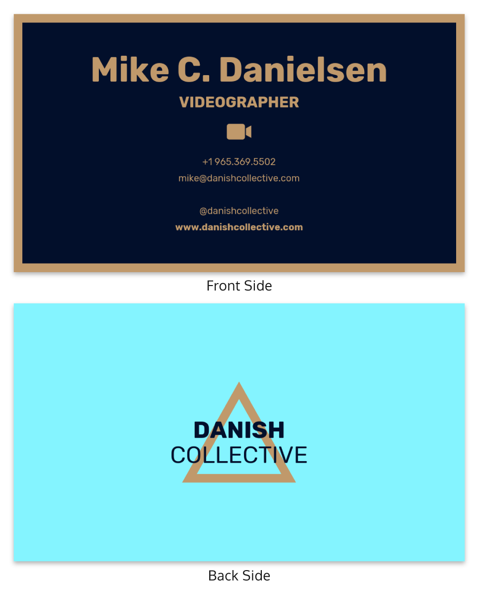 Modern Hipster Business Card Template