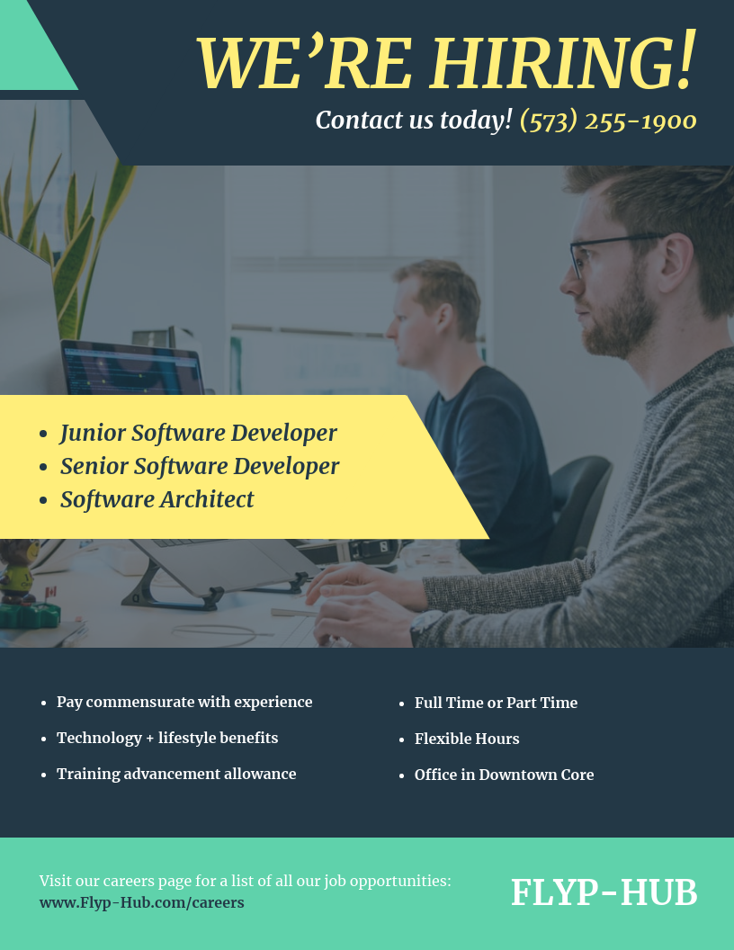 Developer Job Hiring Business Flyer Template