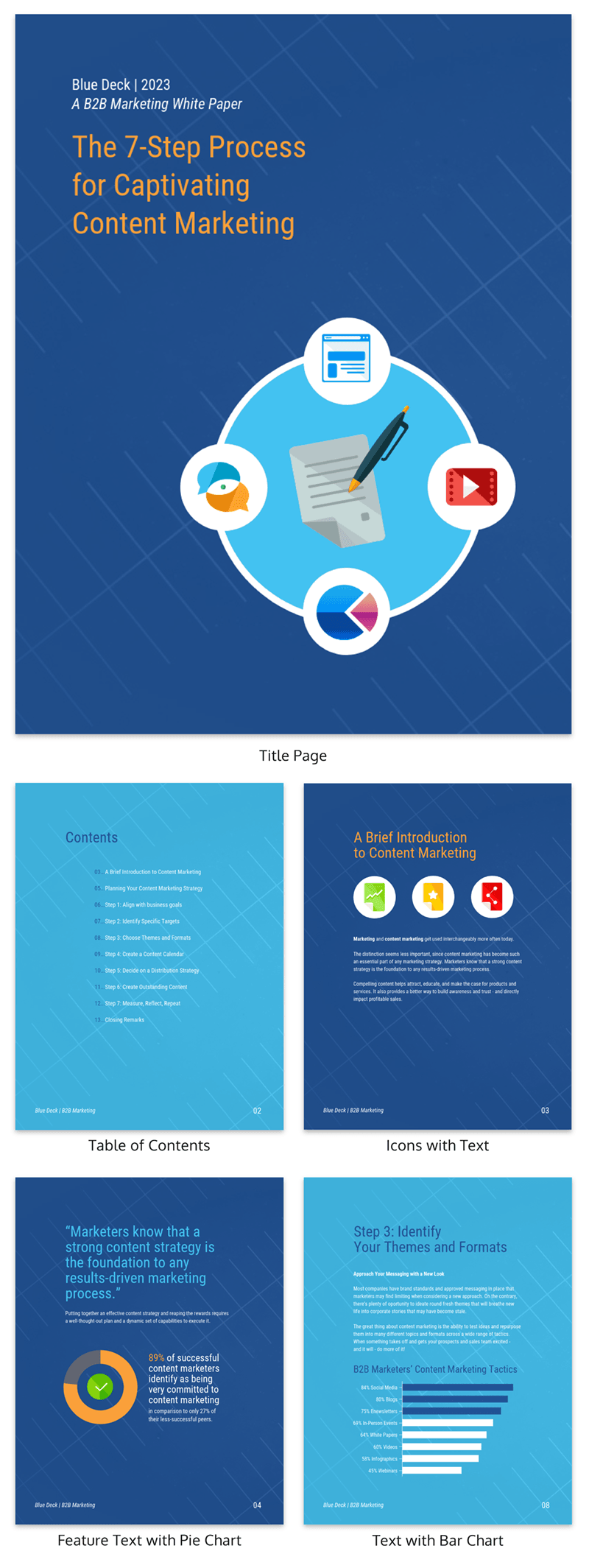 B2B Content Marketing White Paper Template