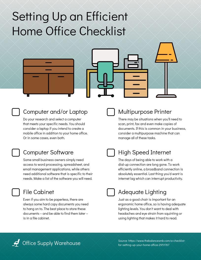Home Office Checklist Template