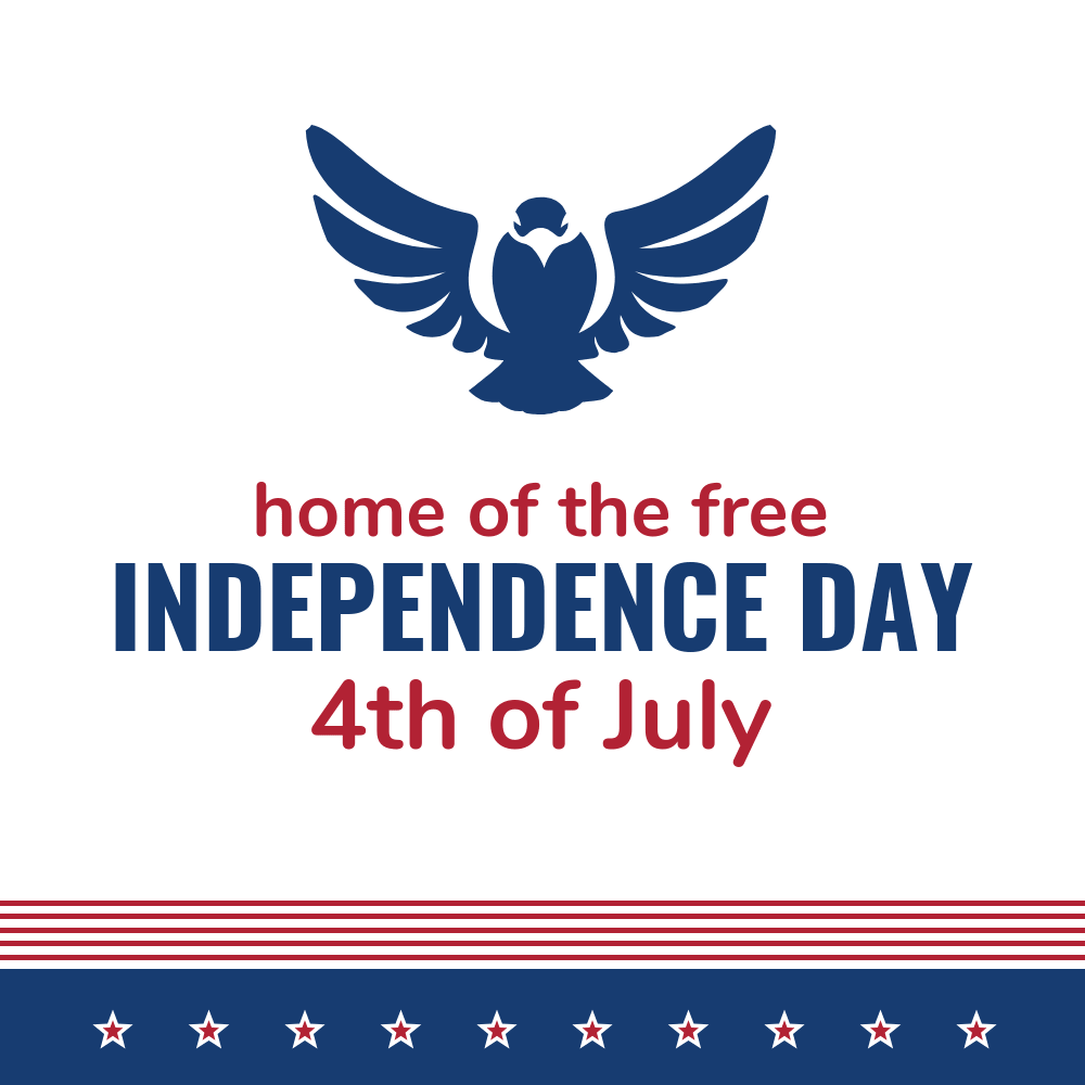 Modern Independence Day Card Template