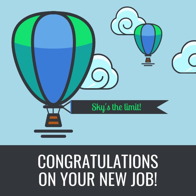 new job congratulations card template venngage