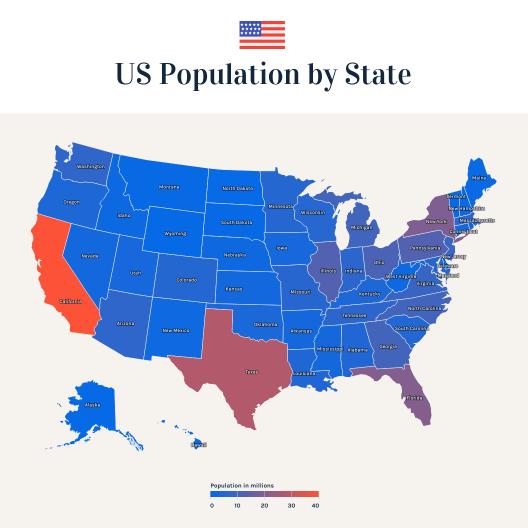 Map Chart Templates Venngage - Us-map-chart