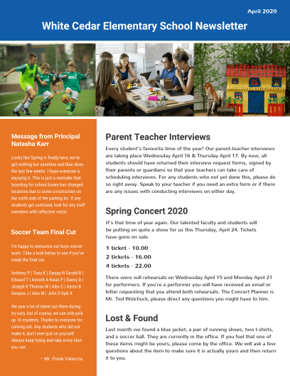 School Newsletter Templates Venngage