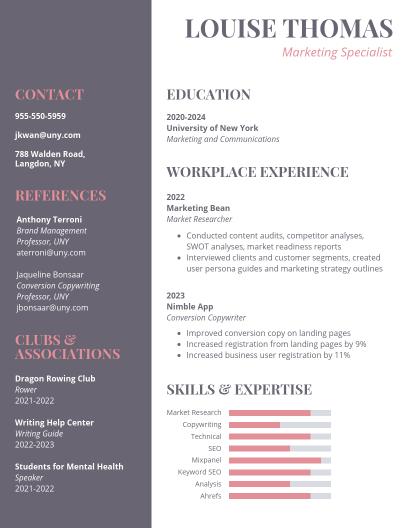 Student Resume Templates - Venngage