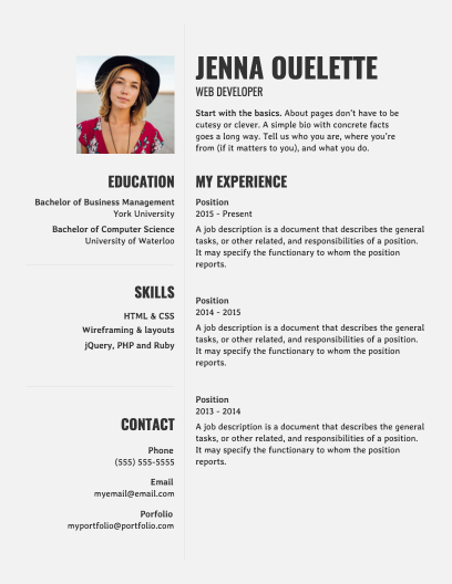 Resume Templates Venngage