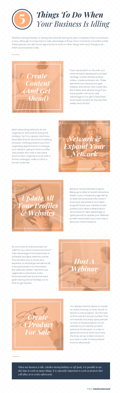 Idling Business Infographic Template