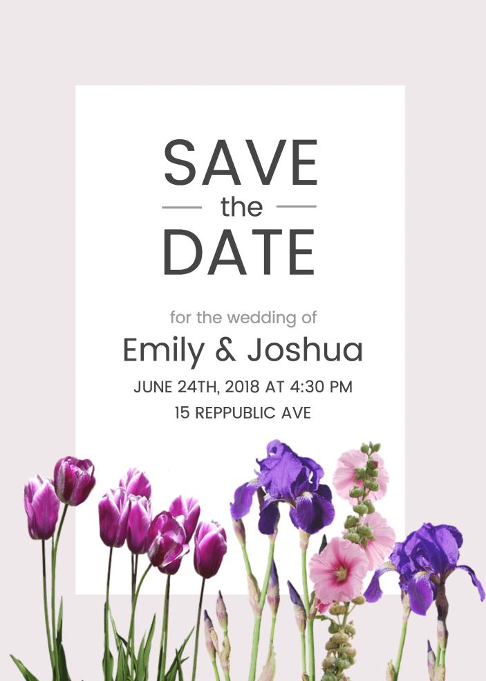 Save The Date Invitation Templates - Venngage