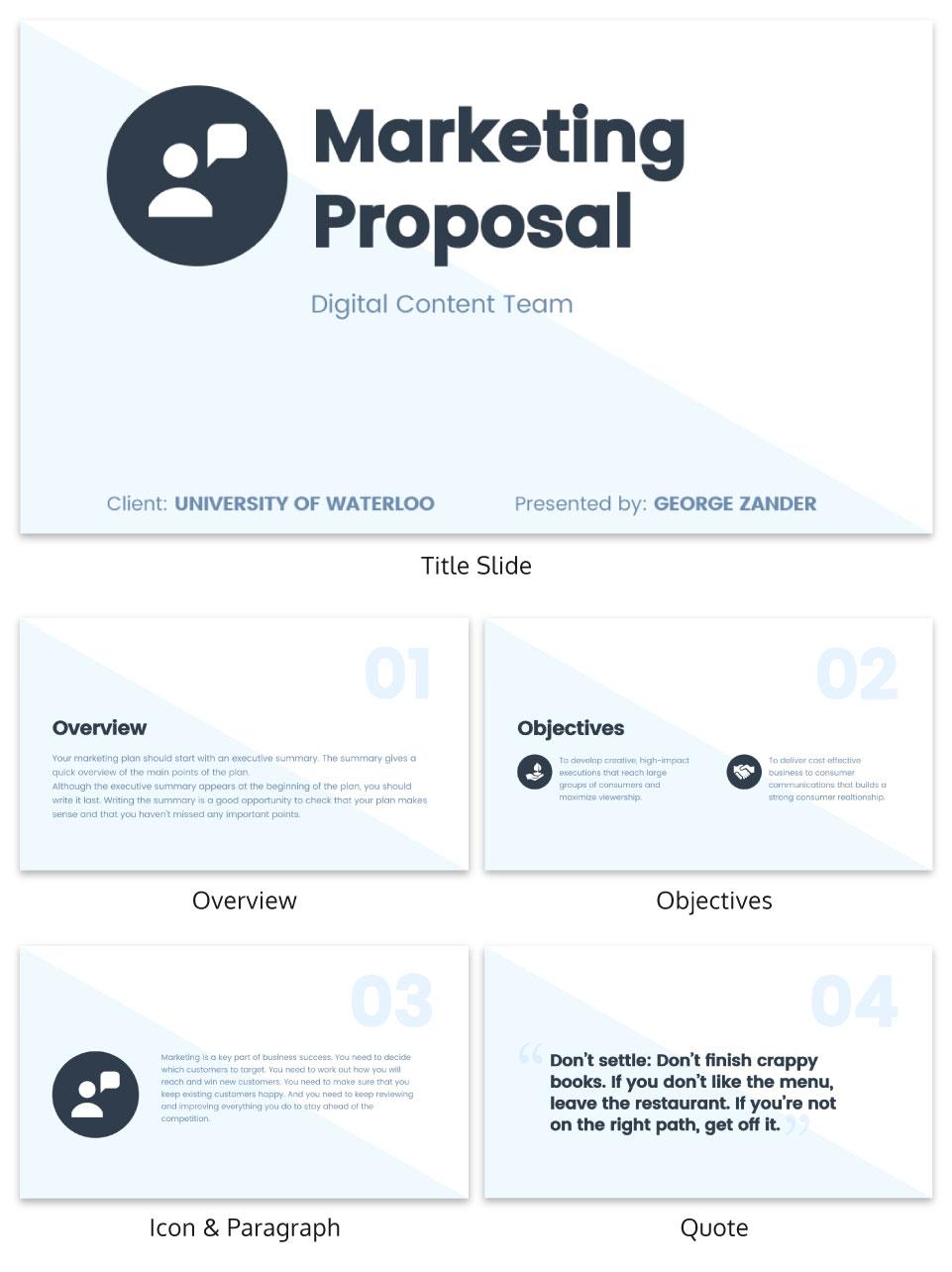 modern presentation infographic template