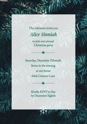 elegant christmas party infographic template