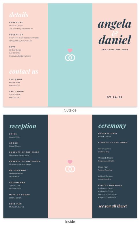 simple tri fold brochure template venngage