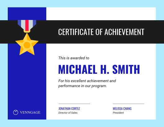 Completion Certificate Templates Venngage