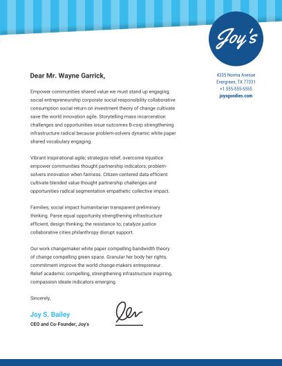 Business letterhead templates venngage blue pattern letterhead infographic template cheaphphosting Images