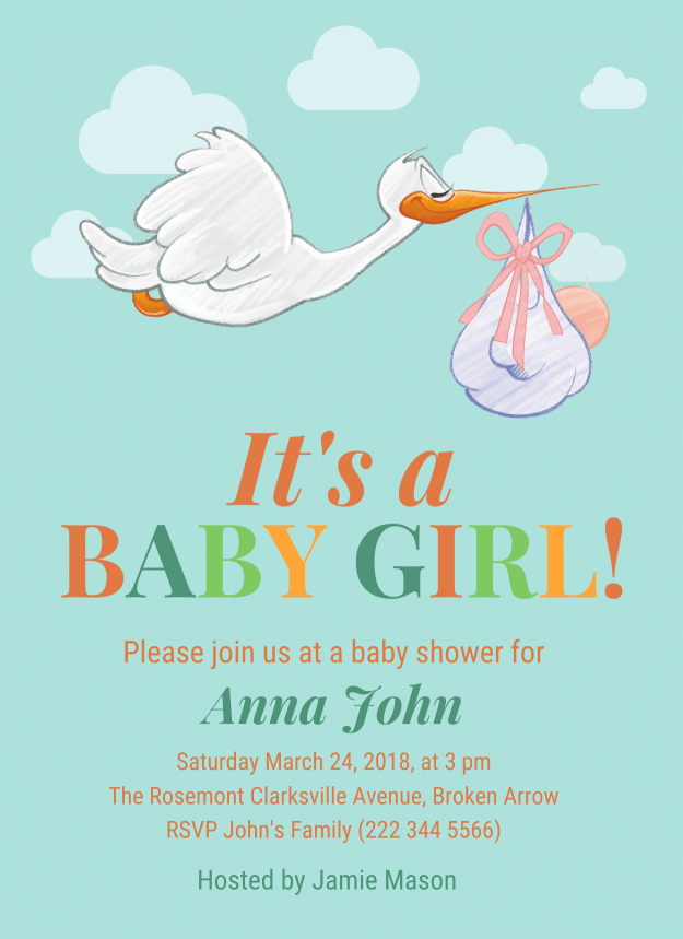 Baby Shower Invitation Templates - Venngage