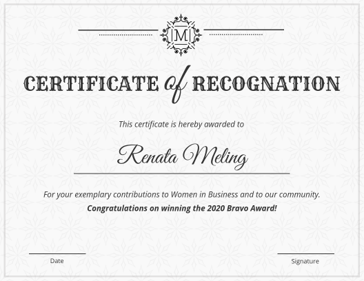 vintage certificate of recognition infographic template - Certificate Templates