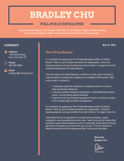 Cover Letter Templates - Venngage